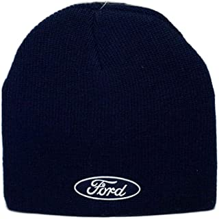 Hat - Ford Cuffless Knit Beanie W/Embroidered Logo Navy Blue