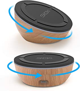 SKOXI Fast Wireless Charger, Twisty 10W Wireless Charging Pad and Adjustable Stand, Qi-Certified, Compatible iPhone XR/Xs Max/XS/X/8/8 Plus, Fast Charging Galaxy S10/S9/S9+/S8/S8+ and More
