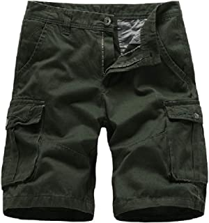 VITryst Men Solid Multi-Pockets Baggy Tactical Ripstop Combat Short Pants