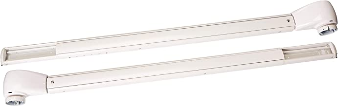 Carefree OV25APHW Travel'r White with Matching White Casting Adjustable Pitch 12 Volt Electric RV Awning Arms Set