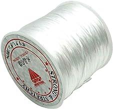 60m / roll rijgdraad Sieraden maken Elastisch draad Kralen Cord DIY Draad voor Polsband Armband Ketting Enkelband, White