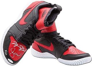 af4aaf5a3f6e Michael Jordan Serena Williams Dual Signed Nike Red White Shoes Bulls   23  UDA