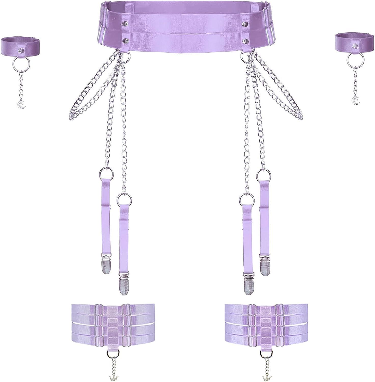 Women Elastic OFFicial Harness Garter Belt Dallas Mall Thigh Stocking Waist to