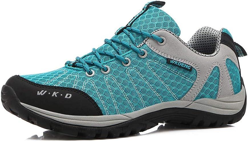 ZFLIN Chaussures de Sport antidérapantes pour Les Loisirs en Plein air. Chaussures de Sport de Cross-Country à séchage Rapide.-bleu-42