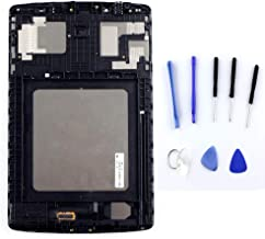 XQ for LG G pad F 8.0 V496 V495 UK495 LCD Display Touch Screen Digitizer Assembly + Frame Full Replacement Part Black +Tools (Black no Frame)