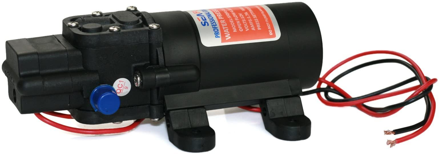 Pump DC 12V 4.3LPM Domestic Self-Priming Diaphragm Pump 35PSI Electric High-Pressure Water Pump