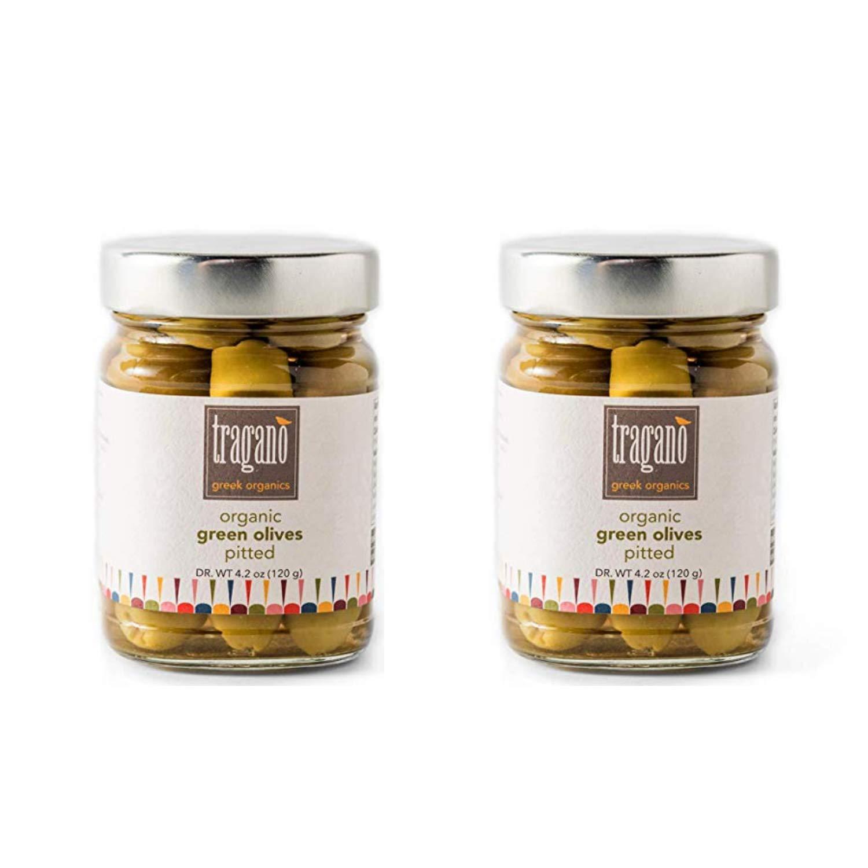 Tragano Greek Elegant Max 46% OFF Organics Pitted Green 2 8 Pac Olives Ounce
