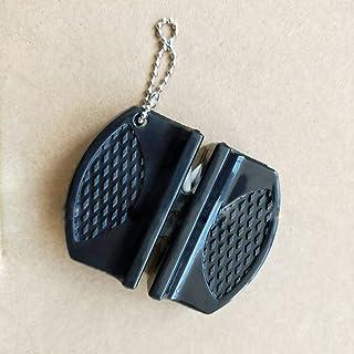 MXECO Creative Mini Afilador de Cuchillos de Bolsillo Varilla de cerámica Antideslizante Tungsteno Acero Camp Cocina Afilador de Cuchillos Herramienta de Afilado rápido