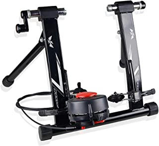 Jeterndy Bike Trainer, Wire-Controlled Indoor Mountain Road Bicycles Training Platform Variable Resistance Indoor Bike Trainer Turbo Trainer (Color : Black, Size : 26-28