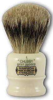 Simpsons Chubby 1 Best Badger Hair Shaving Brush in Imitation Ivory