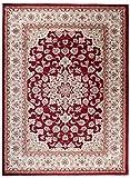 Cristina Carpets Pamir K466A - Alfombra estilo Zigler Herati rojo...
