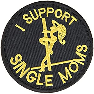 OneTigris Tactical Patch Morale Military Patch about Mom/Daddy (I Support Single Moms)