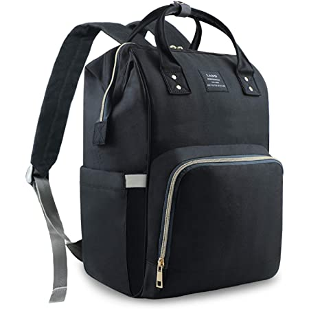 LORVIES Rock Skull Head Pattern Diaper Bag Backpack Large Capacity Muti-Function Travel Backpack