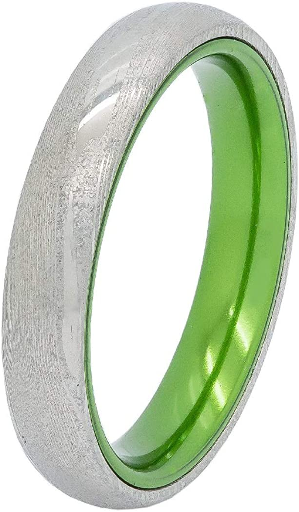 Kingsway Jewelry Damascus Steel Mokume Gane with Green バースデー 記念日 ギフト 贈物 お勧め 通販 高価値 Plat Ring