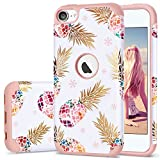iPod 5 Case,iPod Touch 6 Case Pineapple,Fingic 2 in 1 Hybrid Slim...