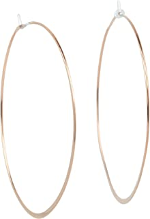 مايكل كورس هيريتيج ويسبر هوب أقراط نسائية مطلية بالذهب الوردي هوب