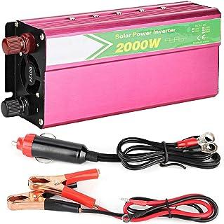 Yctze 2000W Wechselrichter, DC 12V bis AC 220V 240V Aluminiumlegierung Auto Wechselrichter Konverter USB Ladegerät Adapter