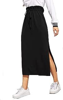 black skirt side split