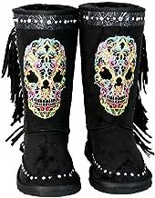 black sugar skull boots