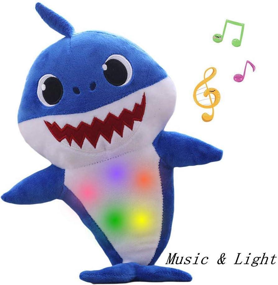 Baby Shark Singing Plush Toy Music Sound Baby Shark Doll Soft Baby Cartoon Shark