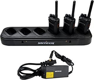 NKTECH 6-Way Six-Way Universal Rapid Multi Charger for TYT DMR MD-380 GPS MD-380GPS MD-280 MD-280 Plus Digital Mobile Radio UHF VHF Two-Way Radio Walkie Talkie