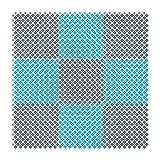 GYYARSX Gespleißte Badematte Badezimmer Toilette Küche Schwimmbad Badehaus Aushöhlen Teppiche, 6 Farben (Color : D, Size : 25X25CM-6PCS)