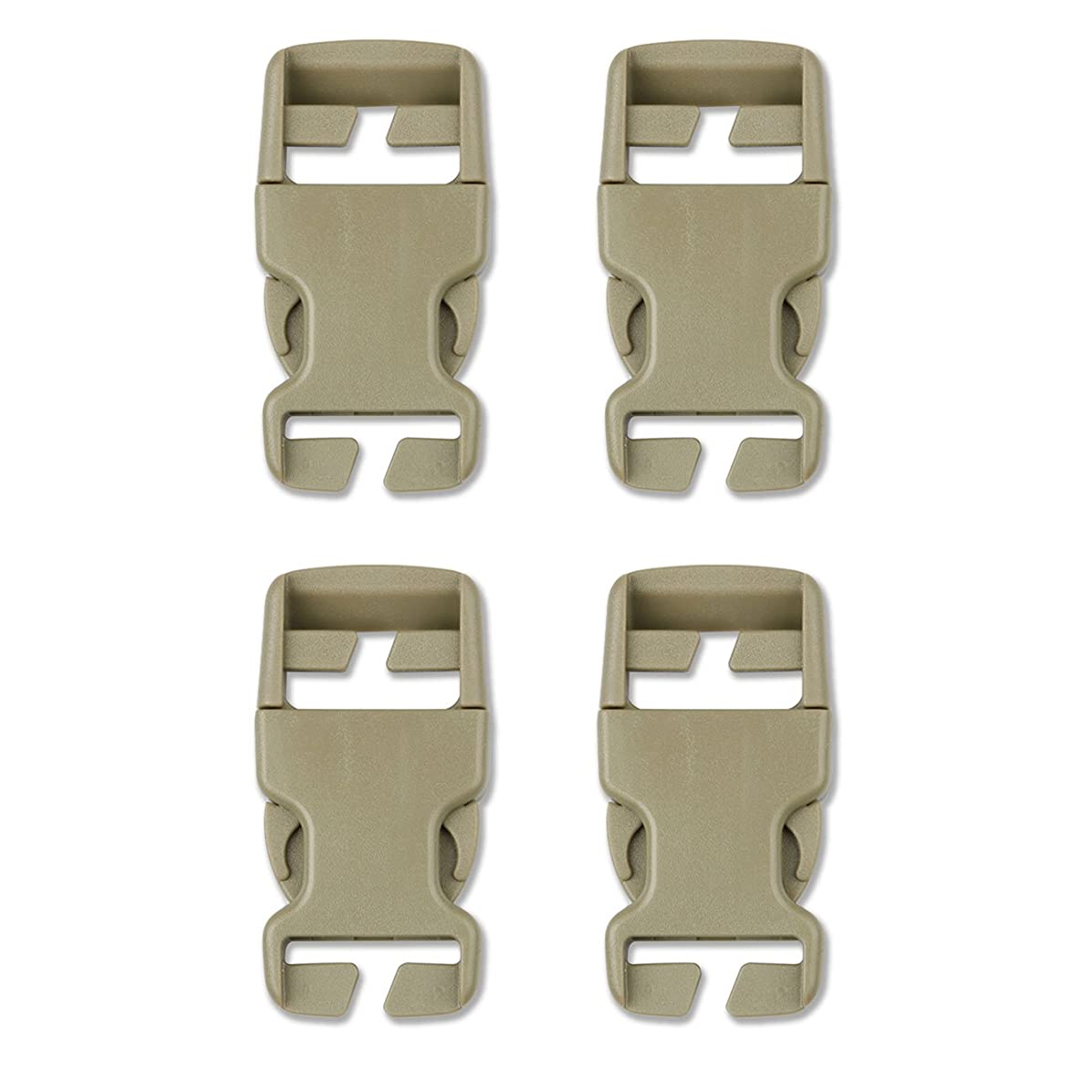 DYZD Multi-Size Plastic Buckle Repair Kit Quick Release Buckles No Sewing Required Buckles for Backpack Bag (4pcs Khaki,25 mm)