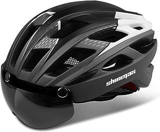 Shinmax Casco Bicicleta con luz, Certificación CE,con Viser