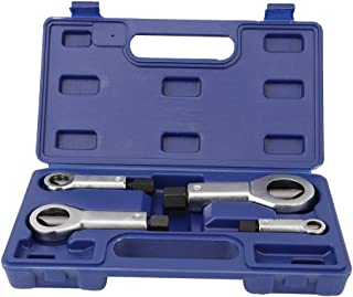 Qiilu Steel Heavy Duty Nut Splitter Set, 4Pcs Nut Splitter Broken Damaged Corroded Stuck Nut Cutter Remover Extractor Tool 9-27mm