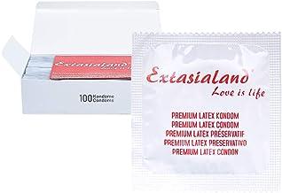 Extasialand Markenkondome 100 Kondome extra dünn und hauchzart im praktischen Sparpack..