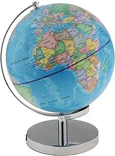 Baosity Illuminated Spinning World Globe Constellation Map Globe Stand Night Light