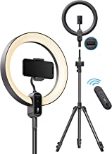 TaoTronics 12'' Ring Light, Dimmable LED Ring Light with 78'' Tripod Stand, Outer 24W 6500K, USB Charging Port, Carrying B...