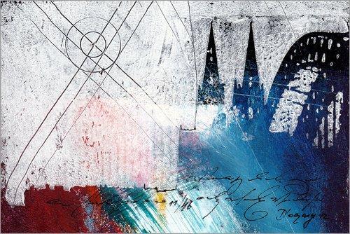 Posterlounge Acrylglasbild 100 x 70 cm: Kölner Dom von Vittorio Vitale - Wandbild, Acryl Glasbild, Druck auf Acryl Glas Bild