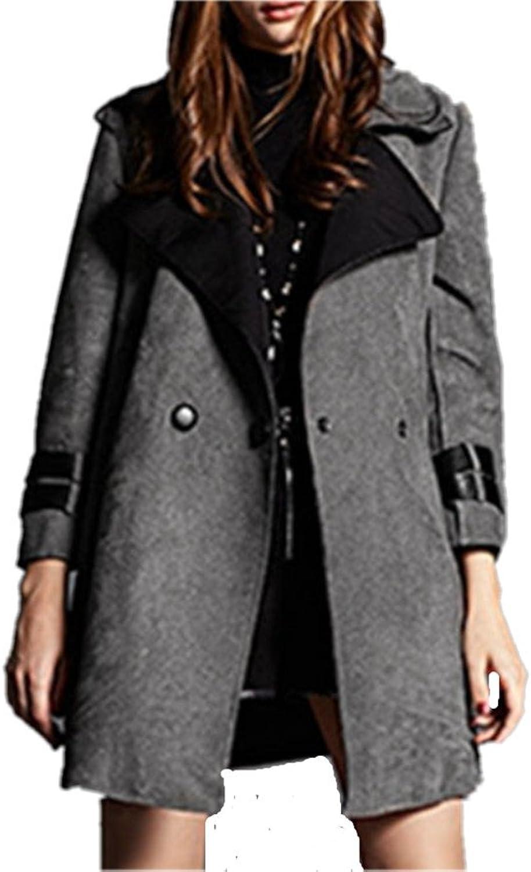 Winter Woolen Coat Fashion Lapel Thick Jacket For Women Cashmere Coat
