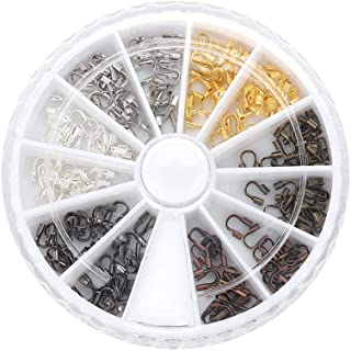 200 Pcs/Box Jewelry Making Supplies, Alloy Wire Guardian Wire Protector for Jewelry Making (6 Colours Box Set Assortment)