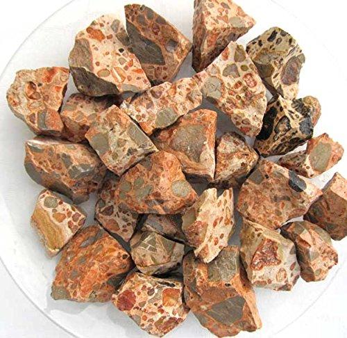 Edel-Depot Leopardit, Leopardenjaspis 500g, Rohsteine Wassersteine (1 kg=16,40 EUR)