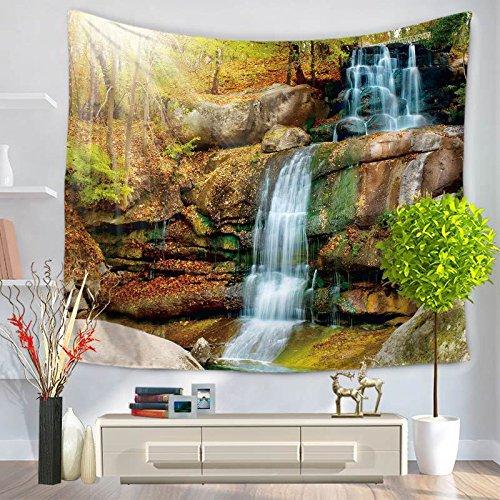 Tapiz grande hippie colgante de pared tapiz bohemio mandala decoración de arte de pared hermoso tapiz de bosque natural A3 180X200CM