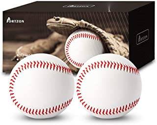 Portzon Baseball,Official Training Baseball Unmarked Baseball for League Play, Practice, Competitions, Gifts, Keepsakes, Arts and Crafts, Trophies, and Autographs