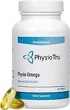 Physio Omega 3 DPA, DHA, EPA Wild Caught Pure Menhaden Fish Oil Supplement, 60 Softgels