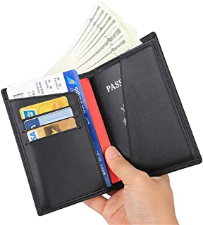 Sturdy Real Leather Travel Wallet & Family Passport Holder Cover - Document Organizer Case Large Capacity (Color : C3)