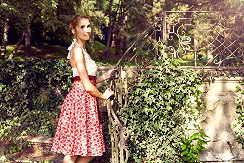 Maggie Brautkleid in creme/weiß und rot
