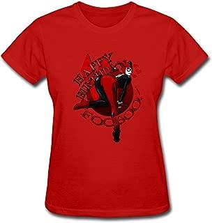 100% Cotton Round Neck Cool Harley Quinn Birthday Pinup Women T-Shirt