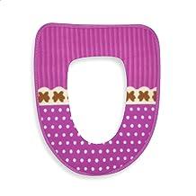 EUROXANTY Wc-brilbekleding | bekleding voor wc-bril | WC-afdekking | 36,5 x 44 cm | roze