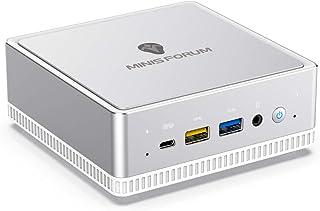 Windows 10 小型パソコン MINISFORUM DeskMini UM300ミニPC AMD Ryzen 3 3300U最大3.5Ghz クアッドコアミニパソコン DDR4 8GB 256GB SATA SSD 1000M LAN イ...