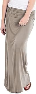 Women Versatile Fold Over Waist Maxi Skirt/Convertible Dress