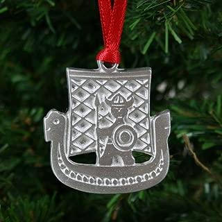 ScandinavianShoppe Viking Ship & Viking Pewter Ornament