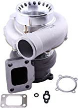 Universal GT35 GT3582 Turbo Charger T3 AR.70/63 4-Bolt Anti-Surge Performance Turbo 400-600HP Water + Oil Cooling