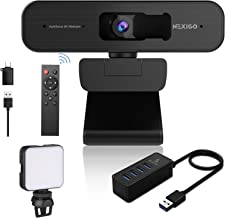 2K Zoomable Webcam Kits, AutoFocus, Support 1080P@ 60FPS, 3X Digital Zoom, Remote Control, 4-Port High-Speed Data USB Hub,...
