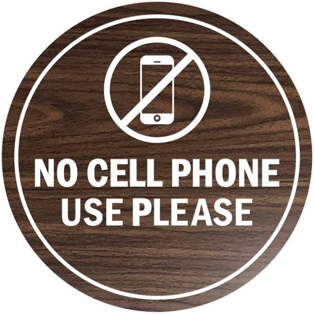 Large Signs ByLITA Circle No Cell Phone Use Please Sign Red