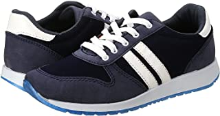 Salerno Side Stripe Contrast Sole Lace-up Sneakers for Women - Black and Navy